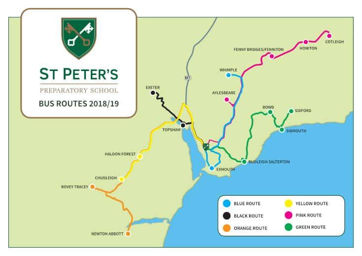School transport - St Peter's Prep School | South Devon