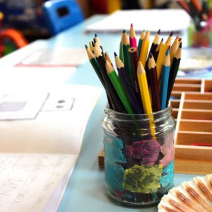 Colouring pencils at St Peter's