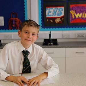 A pupil at our private school in Devon learning about design and technology