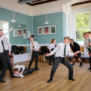 children at St Peters Prep school in a drama class