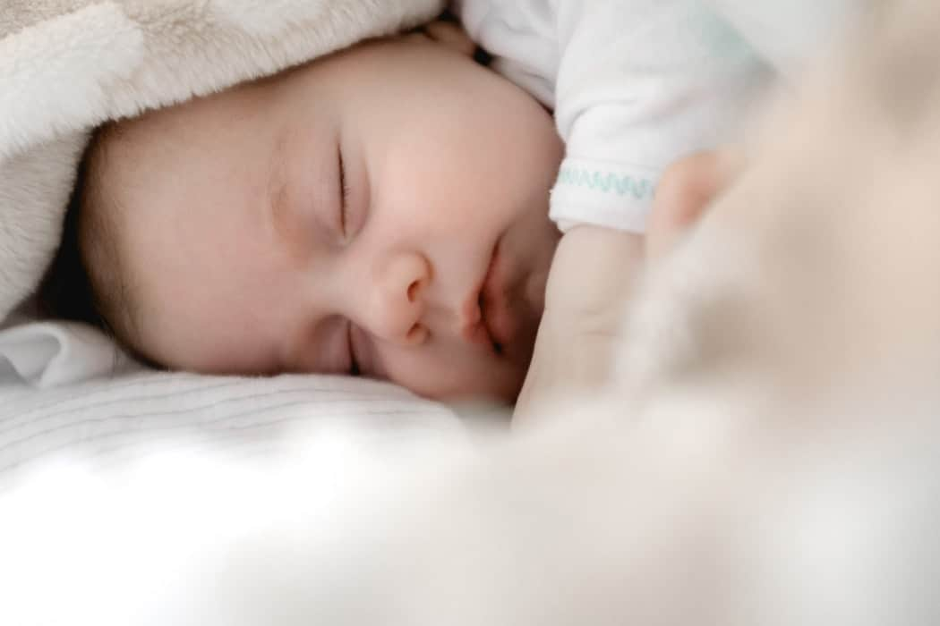 a picture of a baby asleep