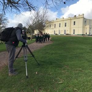 Camera man filming at St Peter's Preparatory School