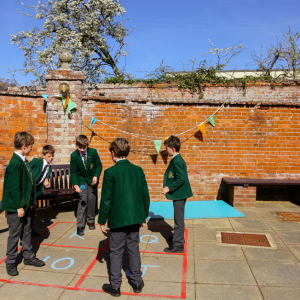 St Peter's Prep pupils playing in the playground