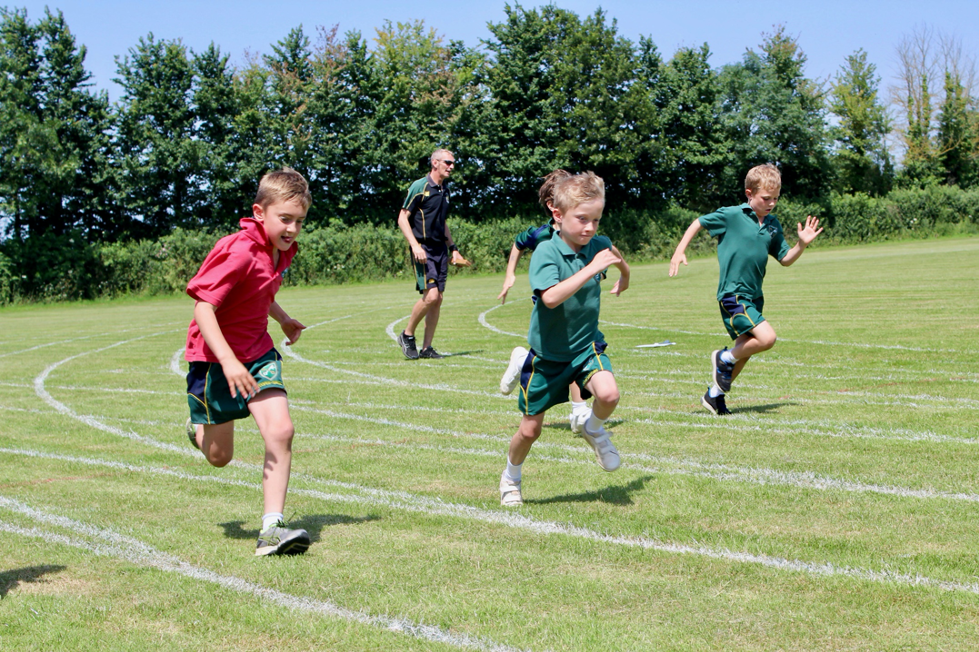 St Peter's Prep pupils running in a race